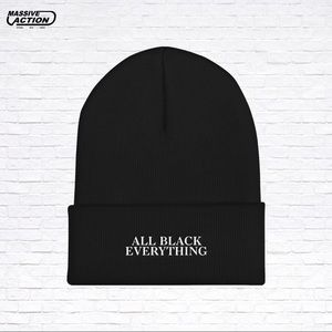 All Black Everything Connected Beanie 61c1e855b946